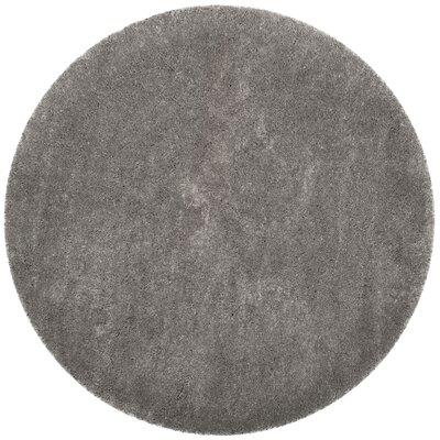 Schmitt Gray Area Rug Rug Size: Round 67