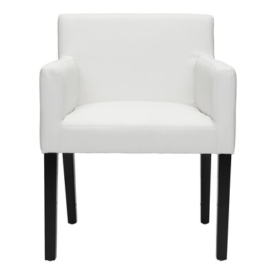 Ambrosino Upholstered Dining Chair Color: White
