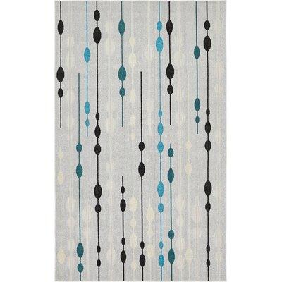 Alaina Silver Indoor/Outdoor Area Rug Rug Size: Rectangle 6 x 9