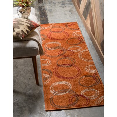 Lilla Terracotta Area Rug Rug Size: Rectangle 9 x 12