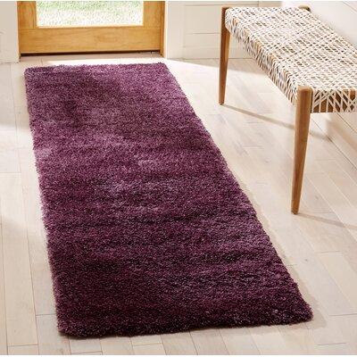 Schmitt Purple Area Rug Rug Size: Runner 23 x 8