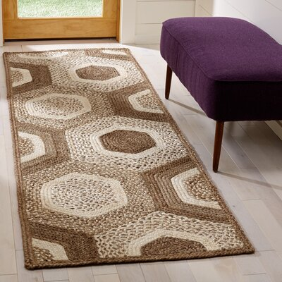 Stalcup Natural Fiber Hand Woven Gray Area Rug� Rug Size: Runner 26 x 8