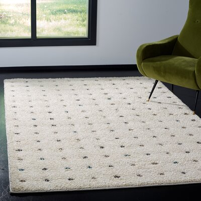 Hatley Shag Cream Area Rug Rug Size: Rectangle 51 x 76
