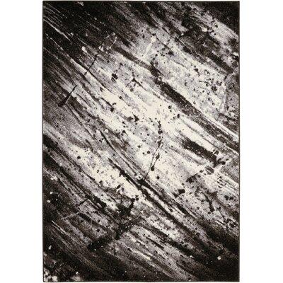 Alojzov Ivory/Gray Area Rug Rug Size: Rectangle 53 x 74