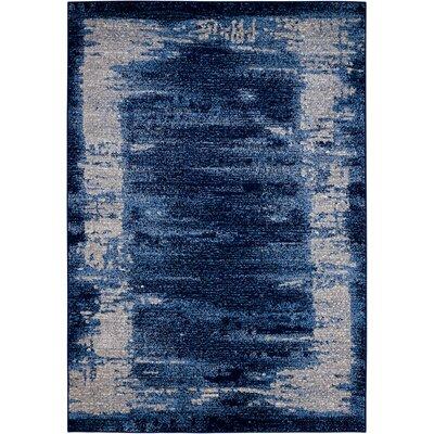 Alojzov Blue Area Rug Rug Size: Rectangle 53 x 74