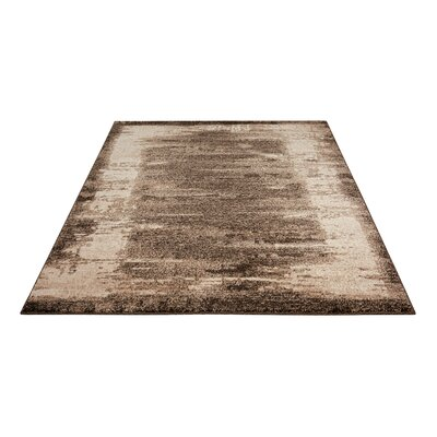 Alojzov Mocha Area Rug Rug Size: Rectangle 53 x 74
