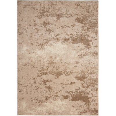 Alojzov Beige Area Rug Rug Size: Rectangle 53 x 74