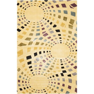 Beige Area Rug Rug Size: Rectangle 36 x 56