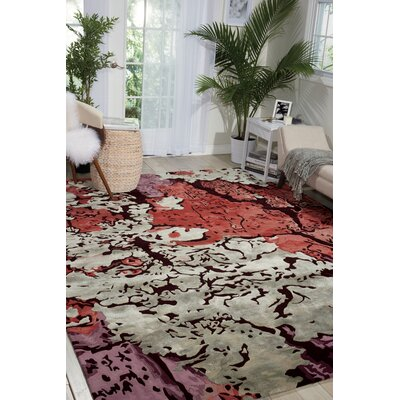 Annan Handmade Red/Purple Area Rug Rug Size: Rectangle 99 x 139