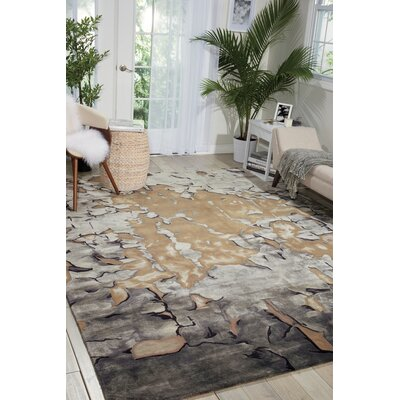 Annan Beige/Silver Area Rug Rug Size: Rectangle 56 x 75