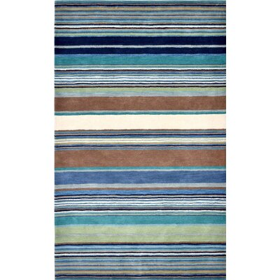 Varley Hand-Tufted Blue Area Rug Rug Size: 36 x 56