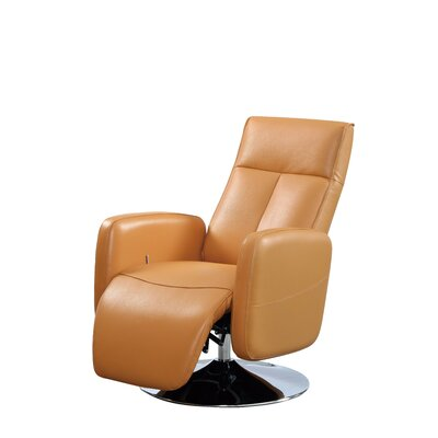Lucama Leather Handle Manual Recliner Upholstery: Cognac