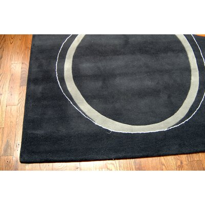 Woodburn Hand-Tufted Assorted / Charcoal Area Rug Rug Size: Rectangle 7 6 x 9 6