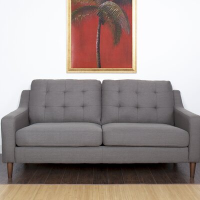 Bacote Couch Upholstered Sofa Upholstery: Dark Gray