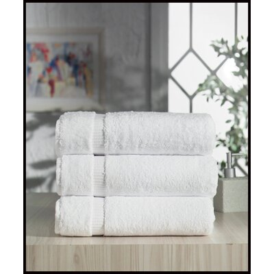 Holdenville Turkish Cotton Bath Towel Color: White