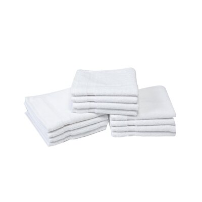 Colunga Wash Cloth Towel Set Color: White