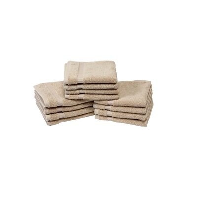 Colunga Wash Cloth Towel Set Color: Taupe