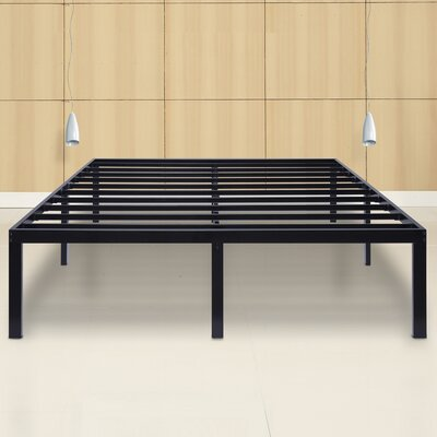 Yetter Steel Slat Bed Frame Size: Queen