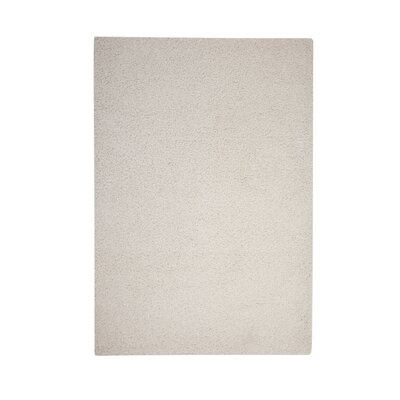 Justine White Area Rug Rug Size: 53 x 76