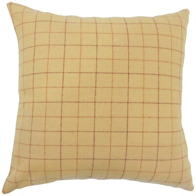 Sherwin Plaid Down Filled Throw Pillow Size: 18 x 18, Color: Tan