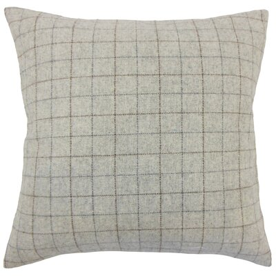 Baltimore Dougherty Plaid Floor Pillow Color: Deep Red