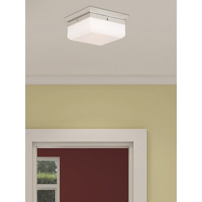 Cara 2-Light Flush Mount Base Finish: Polished Nickel