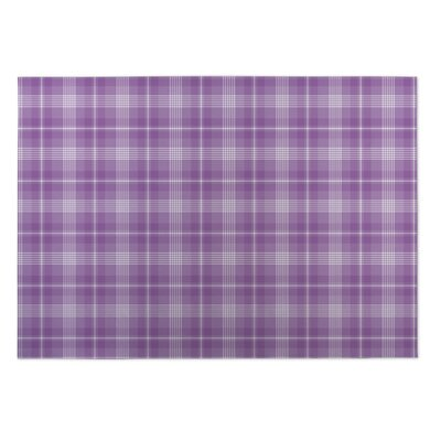 Malvina Plaid Purple Doormat