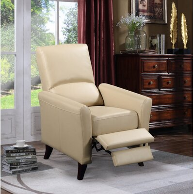 Fredia Club Manual Recliner Upholstery : Latte