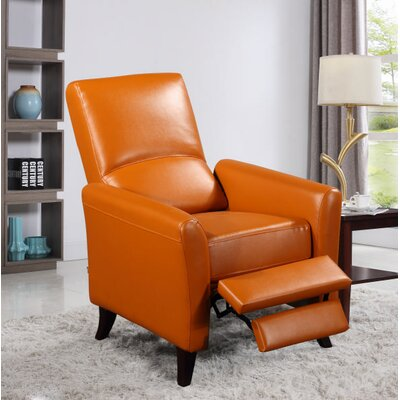 Fredia Club Manual Recliner Upholstery : Cognac