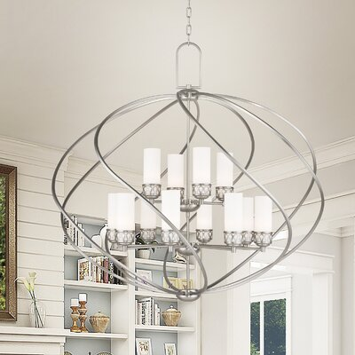 Johnstown 12-Light Foyer Pendant Finish: Chrome