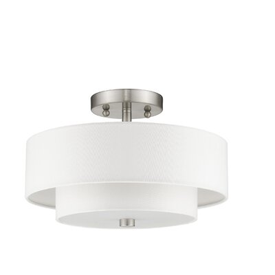 Joey 2-Light Semi-Flush Mount Size: 8.5 H x 13 W x 13 D
