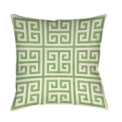 Kimura 2 Printed Throw Pillow Size: 26 H x 26 W x 7 D, Color: Mint