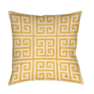 Kimura 2 Printed Throw Pillow Size: 16 H x 16 W x 4 D, Color: Yellow