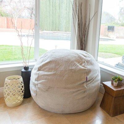 Memory Foam Bean Bag Lounge Upholstery: Fur White