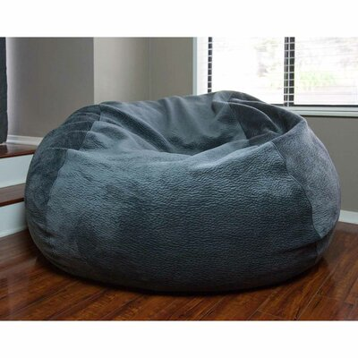 Memory Foam Bean Bag Lounge Upholstery: Velvet Gray