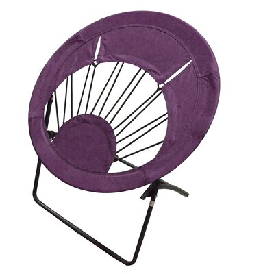 Bungee Folding Dorm Papasan Chair Upholstery Color: Purple
