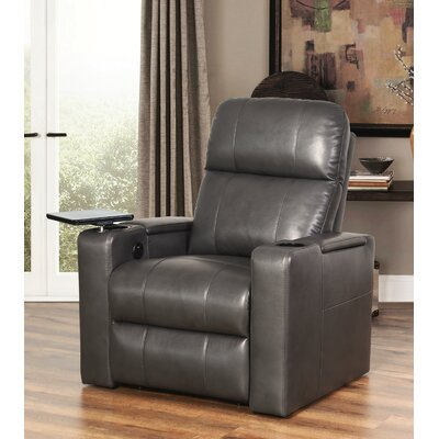Fairfax Power Recliner Upholstery: Gray
