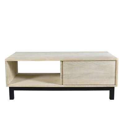Dodson Coffee Table Base Color: Black, Top Color: Bleached