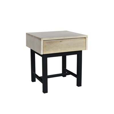 Dodson End Table Color: Bleached/Black