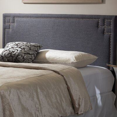 Trueman Upholstered Panel Headboard Size: Full, Upholstery: Dark Gray
