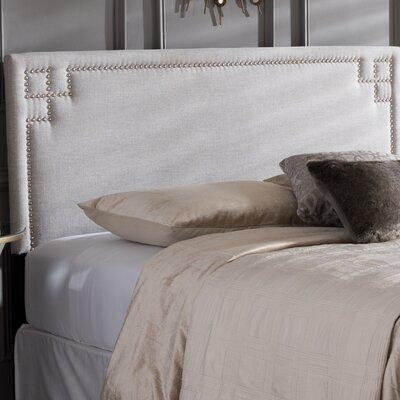 Trueman Upholstered Panel Headboard Size: Queen, Upholstery: Grayish Beige