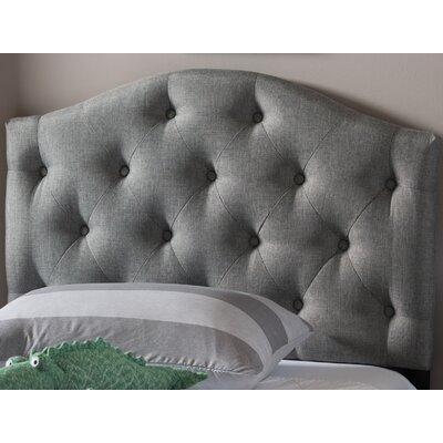 Lindeman Twin Upholstered Panel Headboard Upholstery: Gray