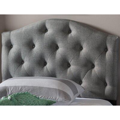 Lindeman Twin Upholstered Panel Headboard Upholstery: Gray