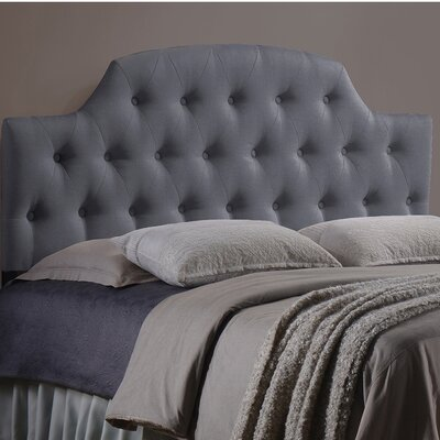 Colegrove Scalloped Upholstered Panel Headboard Size: Queen, Upholstery: Grey