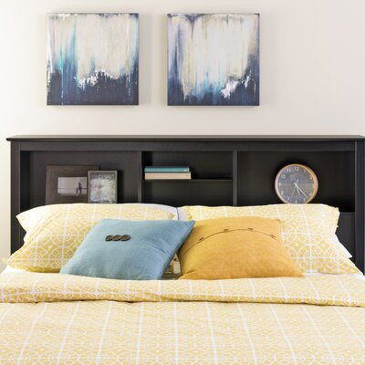 Wanda Bookcase Headboard Size: Queen, Color: Black