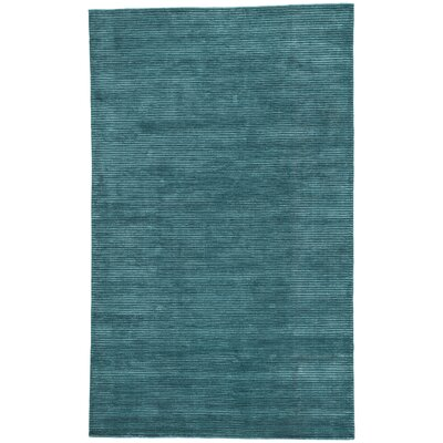 Nico Wool and Art Silk Solids/Handloom Blue Area Rug Rug Size: Rectangle 5 x 8