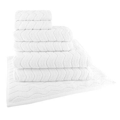 Cotton 7 Piece Towel Set Color: White
