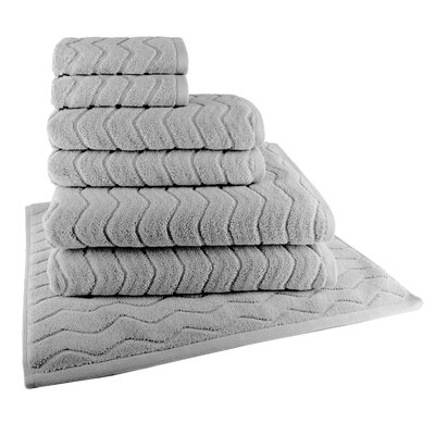 Cotton 7 Piece Towel Set Color: Grey Flannel