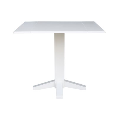 Runkle Square Dual Drop Leaf 36 Extentable Dining Table Finish: White