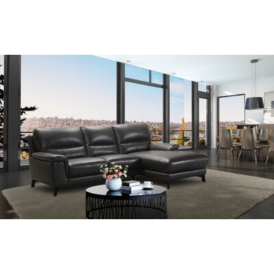 Litten Leather Sectional Orientation: Right Hand Facing